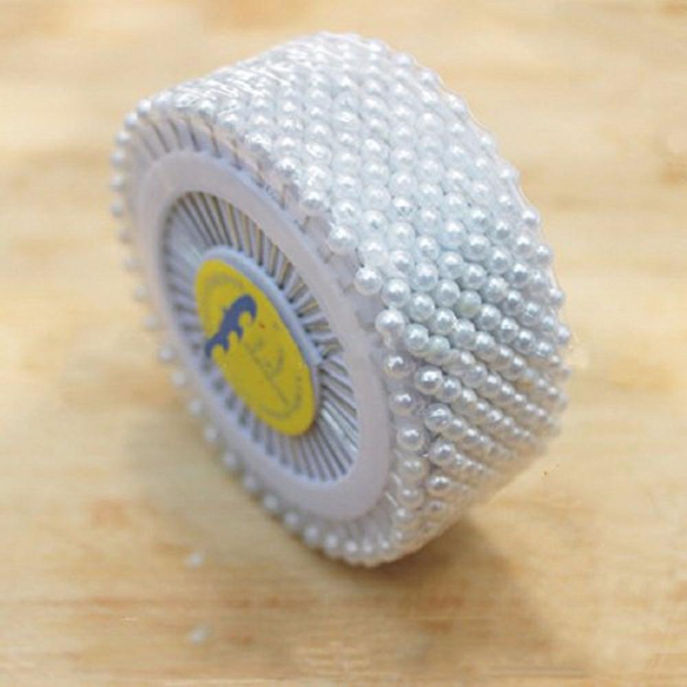 Купить с кэшбэком 480pcs 36MM Dressmaking White Pearl Sewing Pin Round Head Decorative Marker Needles Straight Pins DIY Crafts Tool Accessories