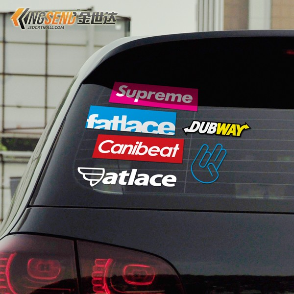 Hf hellaflush modified car stickers reflective car rear window stickers stalls personality sticker hot free shipping