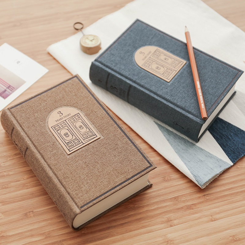 365 Day Thick Hardcover Personal Diary Notebook 3 Years Fabric Cover Vintage Diary Book 384 Sheets xpreen electric pore vacuum cleanser