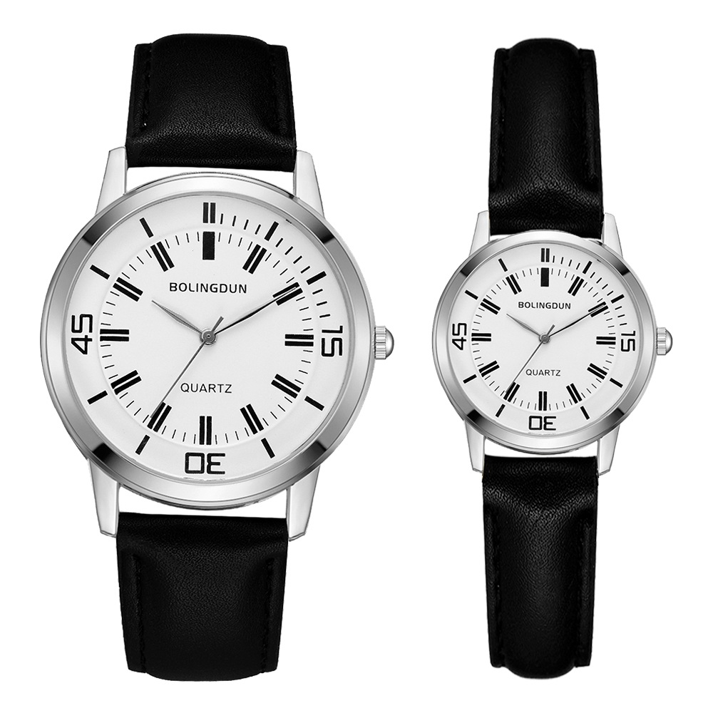 Fashion Women & Man Lovers Reloj Mujer Luxury Leather Strap Watches Couple Dress Sports Quartz Clock Relogio Feminino Set