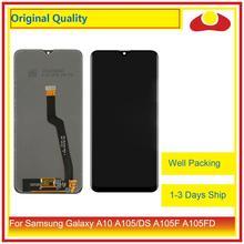10 sztuk/partia dla Samsung Galaxy A10 LCD A105 A105F SM A105F wyświetlacz LCD z ekranem dotykowym panel digitizera Pantalla pełna