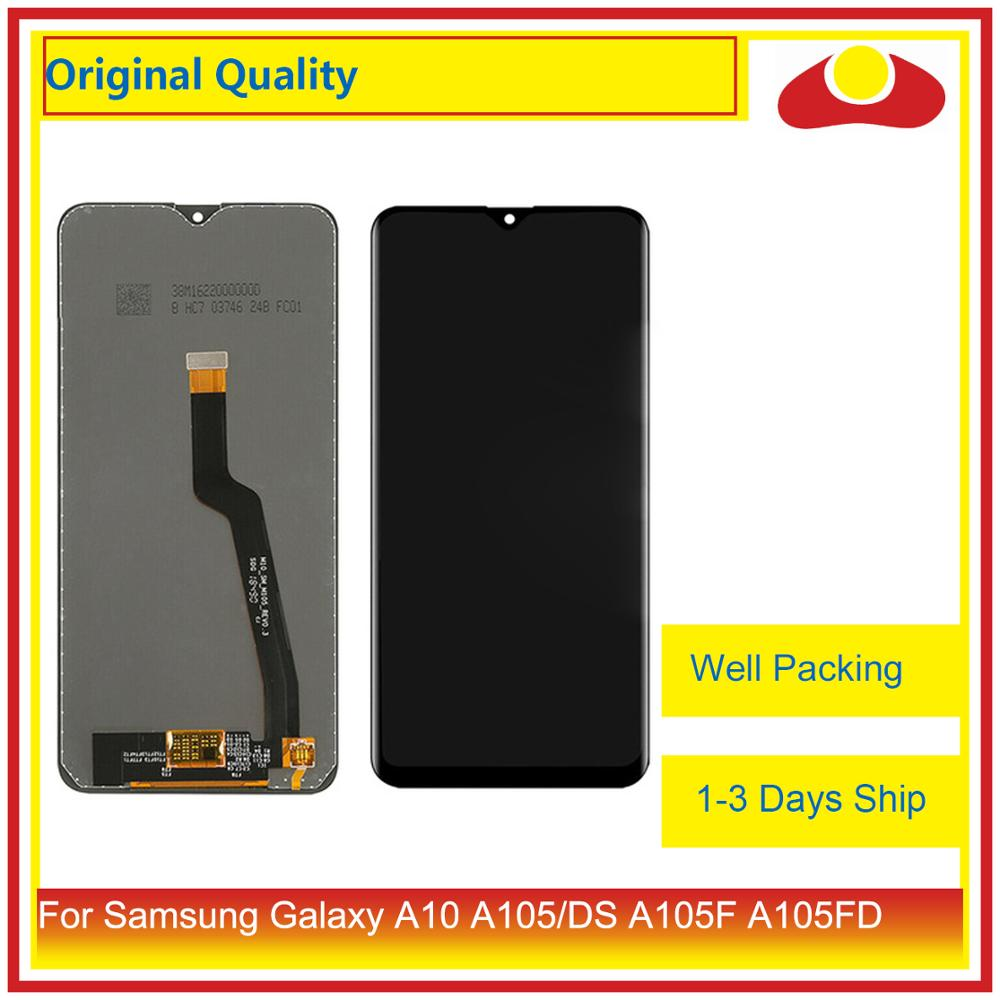 31808d30cbba01 10Pcs/lot ORIGINAL For Samsung Galaxy A10 A105 A105F SM-A105F LCD Display  With Touch Screen Digitizer Panel Pantalla Complete