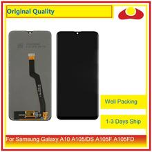 "ORIGINAL 6.2"" For Samsung Galaxy A10 A105 A105F SM A105F LCD Display With Touch Screen Digitizer Panel Pantalla Complete"