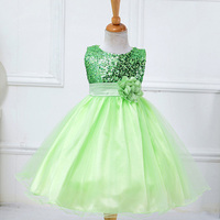 Princess Flower Girl Dress Tull Sleeveless Beaded Appliques Tutu Dress For Kids Girl Wedding Bridal Chirsmas Party Clothes