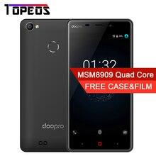 Doopro P1 Pro 5.0 pouce 5MP MSM8909 Quad Core Android 6.0 Mobile Téléphone 2 GB RAM 16 GB ROM 4200 mAh Batterie 4G D'empreintes Digitales Smartphone