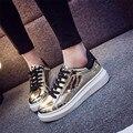 La sra. victoria 2017 Otoño Primavera Casual Zapatos de Los Planos de Las Mujeres Señoras Del Dedo Del Pie Redondo Resbalón En los Zapatos de Cuero de LA PU de La Calle Zapatos de Baile
