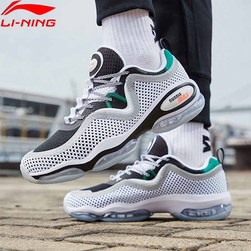 Li-Ning Men BUBBLE MAX II Lifestyle Shoes Air Cushion Retro Breathable Mesh LiNing Sport Shoes Leisure Sneakers AGLP001  YXB263 remote control charging helicopter