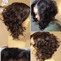7A Curly Human Hair Bob Wigs For Black Women Glueless Virgin Brazilian Human Hair Short Curly Full Lace Front Wig With Baby Hair
