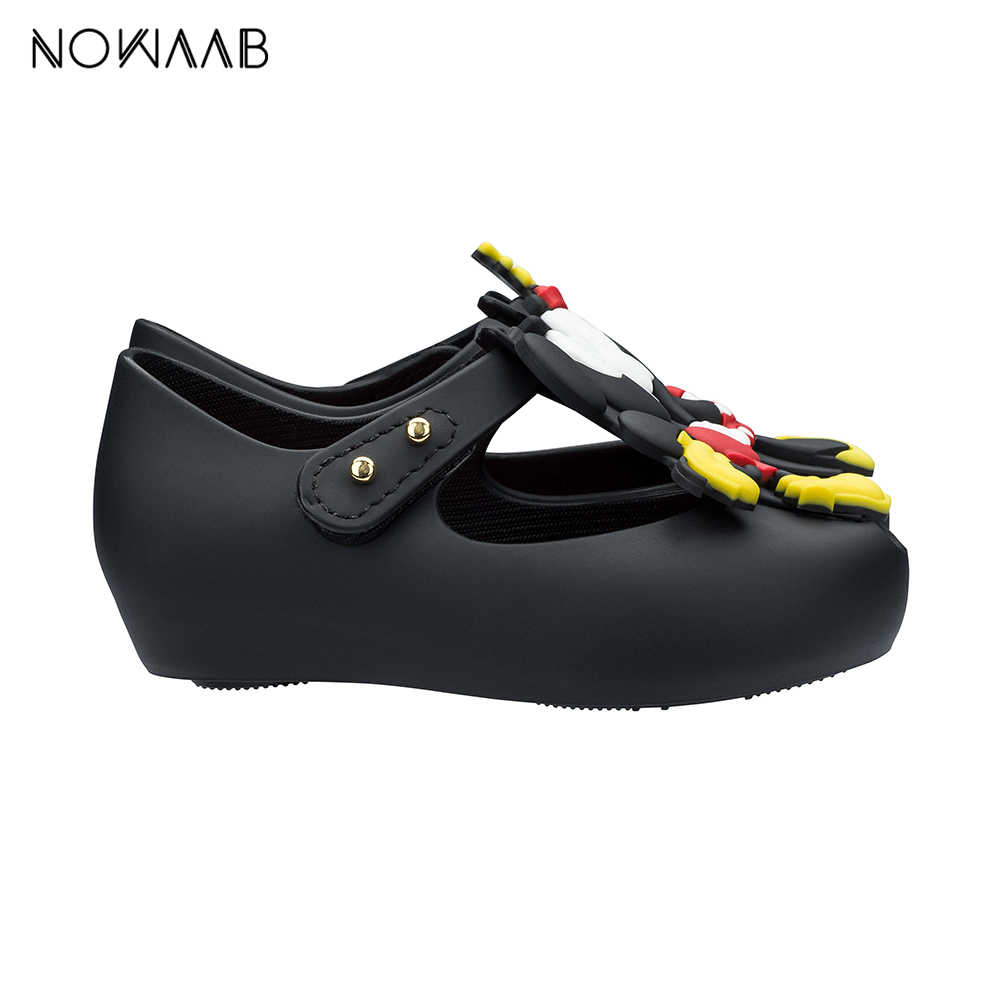 Mini Melissa ultragrl + Twins III/2019 г. Новые летние Пластиковые туфли для девочек и мальчиков Нескользящие сандалии детские пляжные сандалии детская обувь