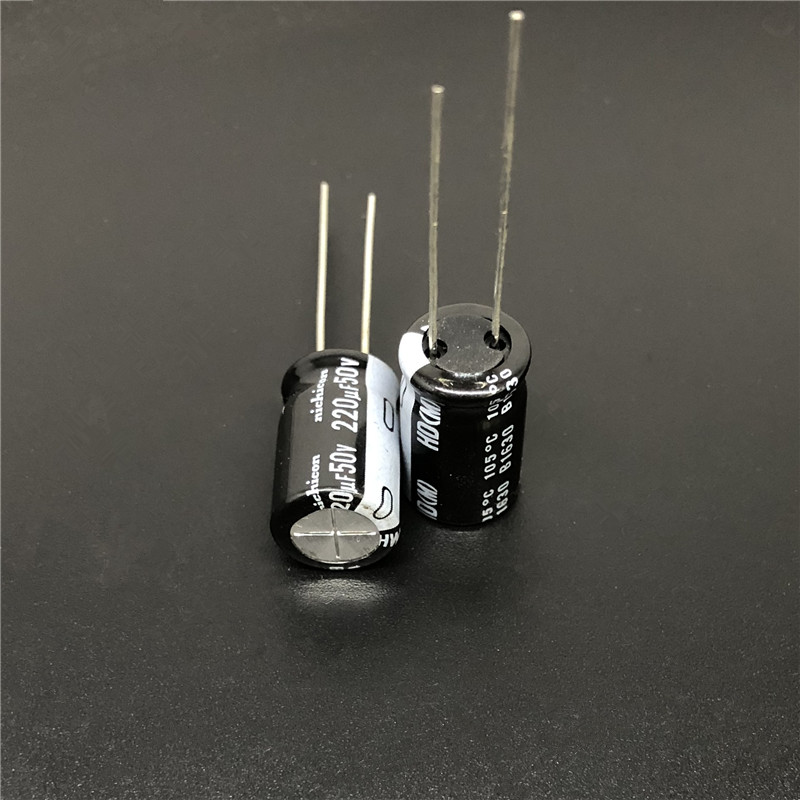 10Pcs/100Pcs 220uF 50V NICHICON HD Series 10x16mm Super Low Impedance 50V220uF Aluminum Electrolytic Capacitor