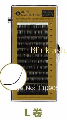 ФОТО L LASH 0.15THICK*10mm L LASH BLINK False Indivual Eyelashes Free Shipping