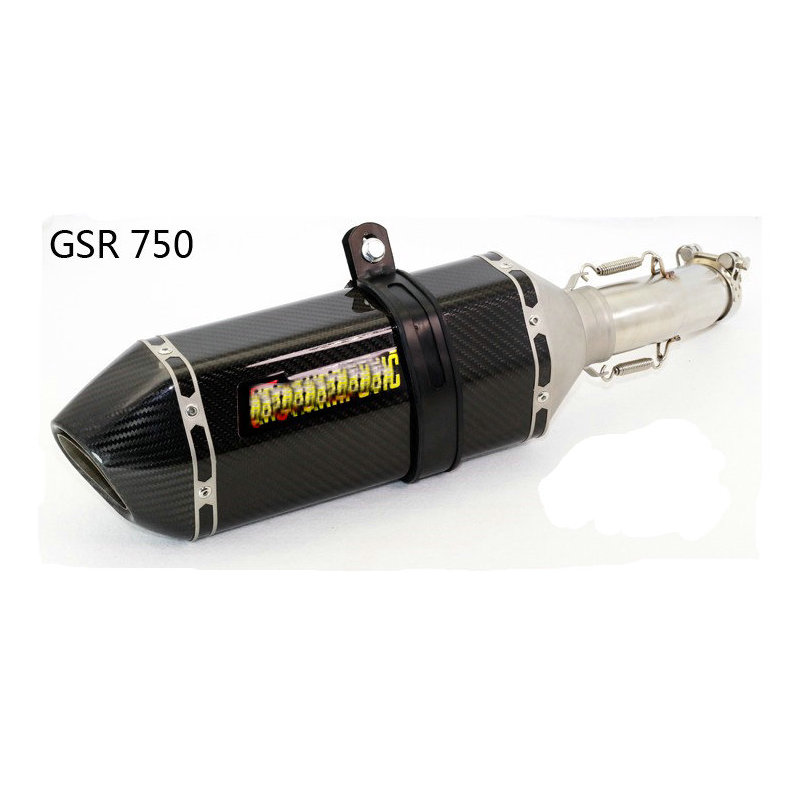 ФОТО exhaust pipe motorcycle escape carbono large hexagon GSR750 GSR 750 embout echappement exhaust db killer