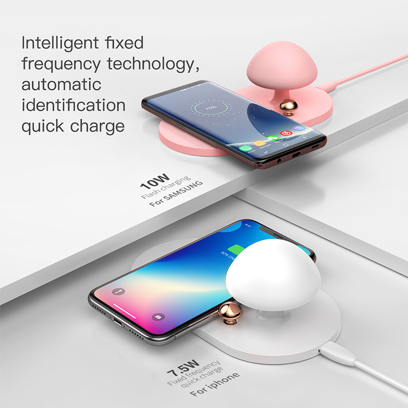 Wireless Charger 10W - QC 3.0 Fast Charging Protocol with touch-sensitive nightlight 1