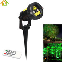 Outdoor Waterproof Green Red Garden Tree Laser Landscape Projector With 10 Feet Cable Christmas Lights Star