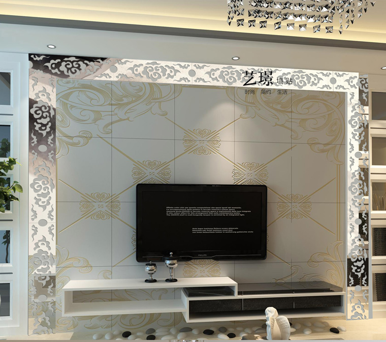 3d Acrylic Mirror Wall Stickers Tv Background Wall