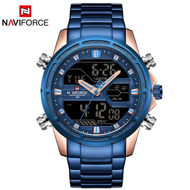 Relogio Masculino NAVIFORCE Brand Men Sport Watches Men LED Analog Digital Milit