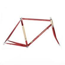 Chrom-molybdän-stahl rennrad rahmen DIY rahmen fixie bike rahmen 700 C 525 rohr 48 cm 50 cm 52 cm 54 cm 56 cm
