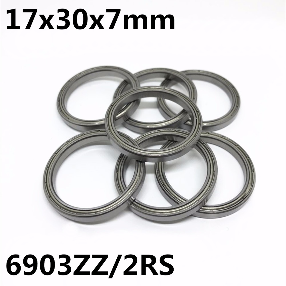 10PCS 6903ZZ 6903-2RS Thin Wall Ball Bearings 17x30x7 Mm Bearing Steel High Quality 6903 6903Z 6903RS