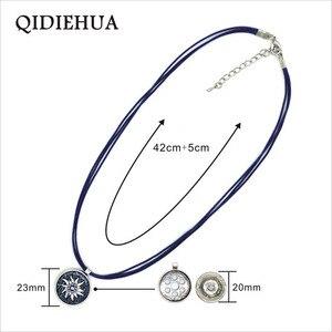 Винтажная эмалированная маленькая цепочка с подвеской из сплава QIDIEHUA Oktoberfest, ожерелье Эдельвейс с принтом в стиле бохо, панк-веревка, короткий чокер, оптовая продажа