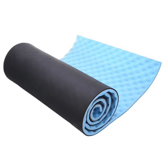 1.5cm Thickened Double layer EVA Yoga Mat Dual Purpose Exercise Fitness Mat Outdoor Camping Waterproof Sleeping mat Free Strap