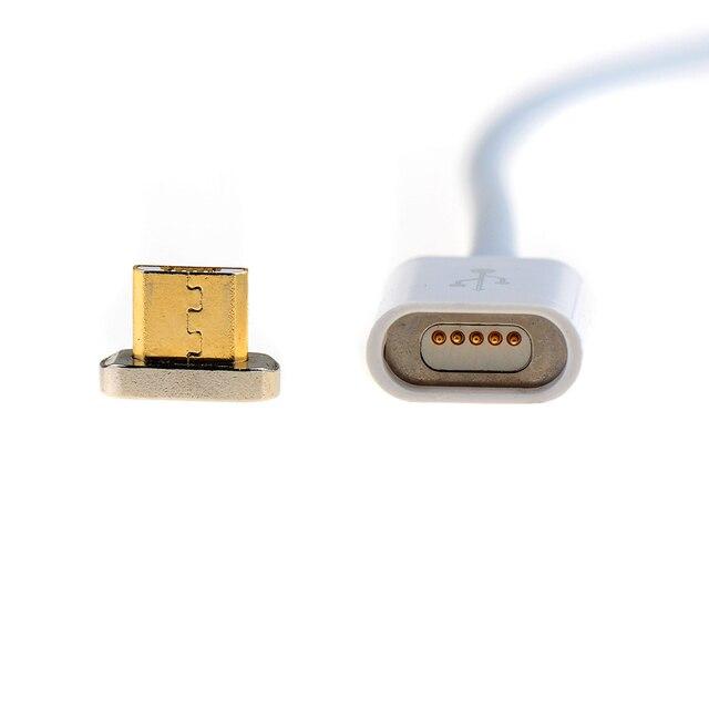 לבן מגנטי מיקרו USB מטען מתאם עבור סמסונג HTC Huawei Xiaomi OPPO Sony אנדרואיד טלפונים חכמים טבליות