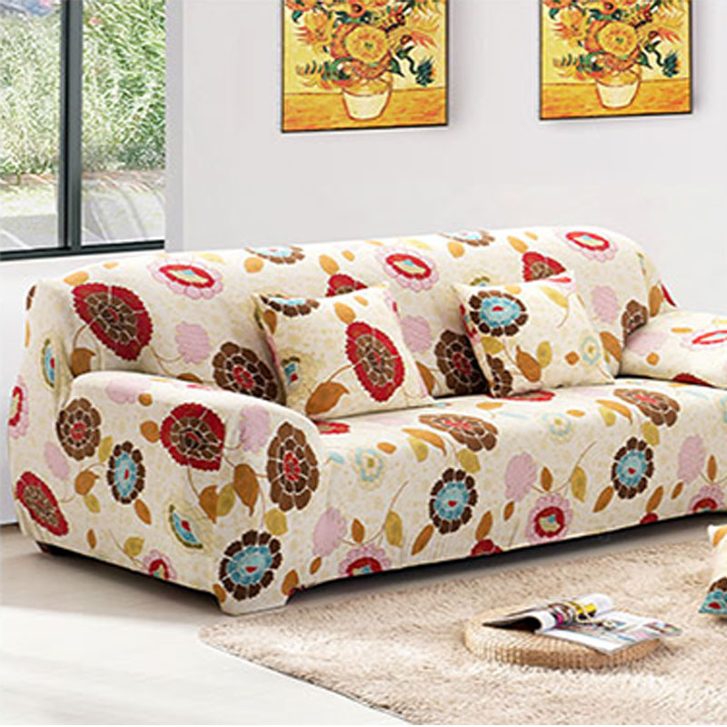 sofa cover capa de sofa sunflower pattern sofa slipcover stretch seat covers fundas sofas. Black Bedroom Furniture Sets. Home Design Ideas