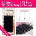 0.10 New Curl J B C 5 trays High Quality Eyelash Extension Individual Mink Soft Black Natural Eyelashes Freeshipping