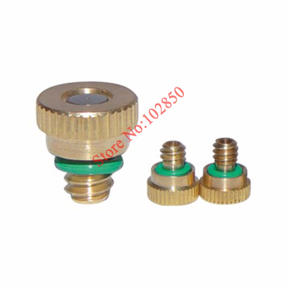 Low Pressure Mist Cooling Nozzle 3/16 Brass Misting Nozzles 10-pack Brass Nozzle.orifice 0.3mm Shrink-Proof