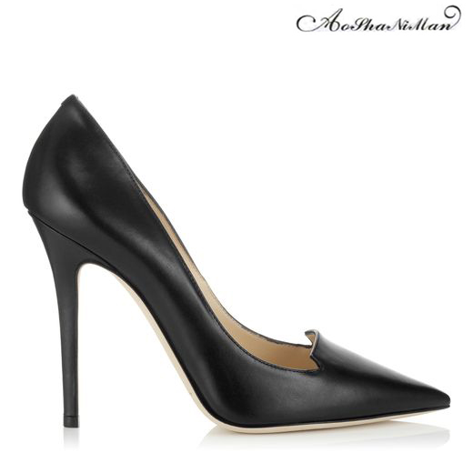 2017 Newest spring Shallow heels Pointed Toe thin heel Women Pumps Dress Stiletto shoes Women real leather supper high heels