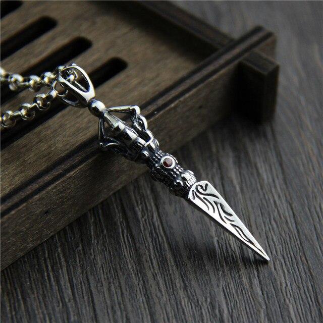 Silver pendants Retro Thai Silver Buddhist Rituals Falling Magic King Kong Pestle Exorcism Pendants for Men and women