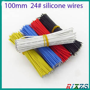 10PCS/alot  3239# 100MM 24awg silicone wires  white yellow red black blue