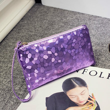 Women Long Clutch Wallet Large Capacity Wallets Pure Color Clutch Bag 2019 New PU Leather Purse Phone Card Holder Bag Zipper
