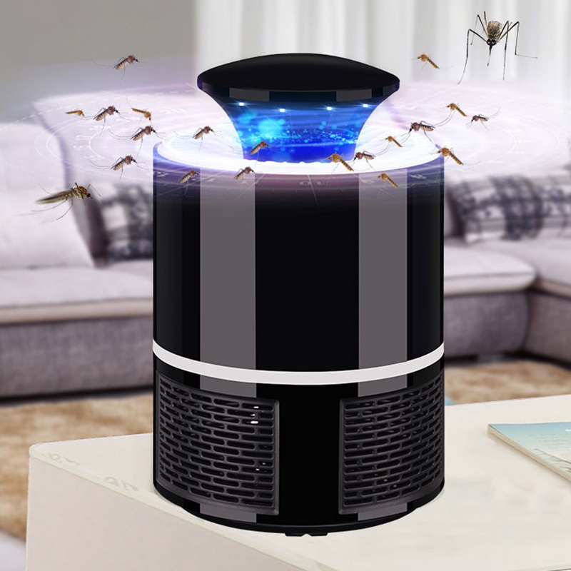 Fotocatalizador asesino del Mosquito eléctrico Lampe Anti anti-moustique Electrique Mosquito LED lámpara señuelo Bug Zapper HNW-018 USB Powered