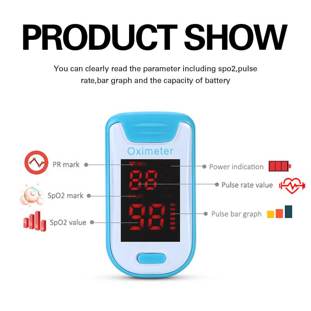 Olieco Smart Vinger Pulsoximeter Met Doos Lanyard Draagbare Huishoudelijke Bloed Zuurstof Meter Hartslagmeter SPO2 Pr Saturatiemeter Ce