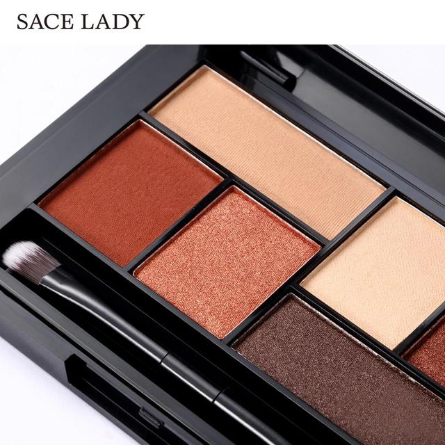 SACE LADY Matte Eyeshadow Palette MakeUp 8 Colors Glitter Eye Shadow With Brush Make Up Long Lasting Waterproof Natural Cosmetic 1
