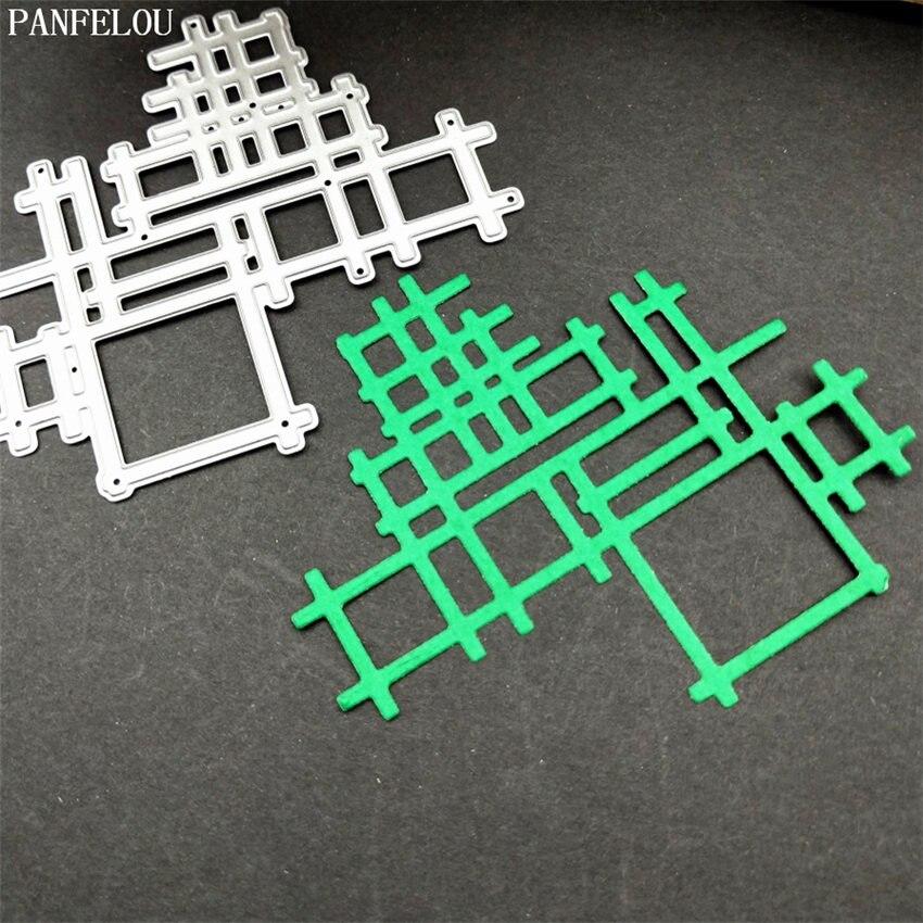 PANFELOU нерегулярные решетки бумаги высечки умирает корабля металла Скрапбукинг/DIY новогодние свадьба тиснение плесень карты