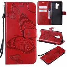 Fundas Leather Cases Butterfly Frame For LG G7 ThinQ K7 K8 2018 K10 2017 LS775 Q6 Q8 Q