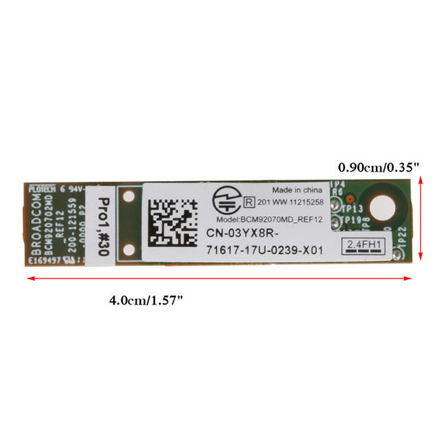 US $3 45 20% OFF Laptop Wireless 375 Bluetooth 3 0 + EDR Board Module Card  for Dell Latitude E6410 E4310 0WJCJD-in Add On Cards from Computer & Office