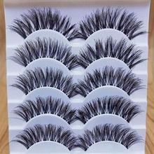5 Pairs 3D Handmade Fake Eyelashes Natural Long Thick Daily Makeup Thick Cross Eyelashes Eye Lashes