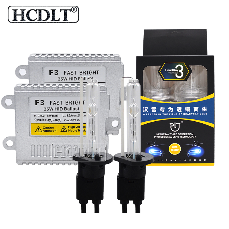 HCDLT 1 Set 12 V 35 W Xenon H7 H1 H11 HB3 HB4 9012 D2H HID Kit de phares 4500 K 5500 K 6500 K ampoule HID AC 35 W Ballast xénon
