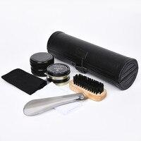 Professional Shoe Care Kit 9Pcs Set Leather Care Tool Case Set Leather Shoes Neutral Polishing Tool