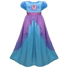 Blue frog princess one piece female child sleepwear lounge child formal dress
