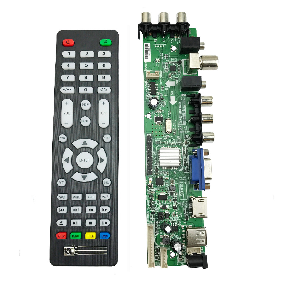 DS.D3663LUA.A81 DVB T2 DVB T DVB C digital TV LCD/LED driver board 15 32 inch Universal LCD TV Controller Driver Board 3663-in Integrated Circuits from Electronic Components & Supplies