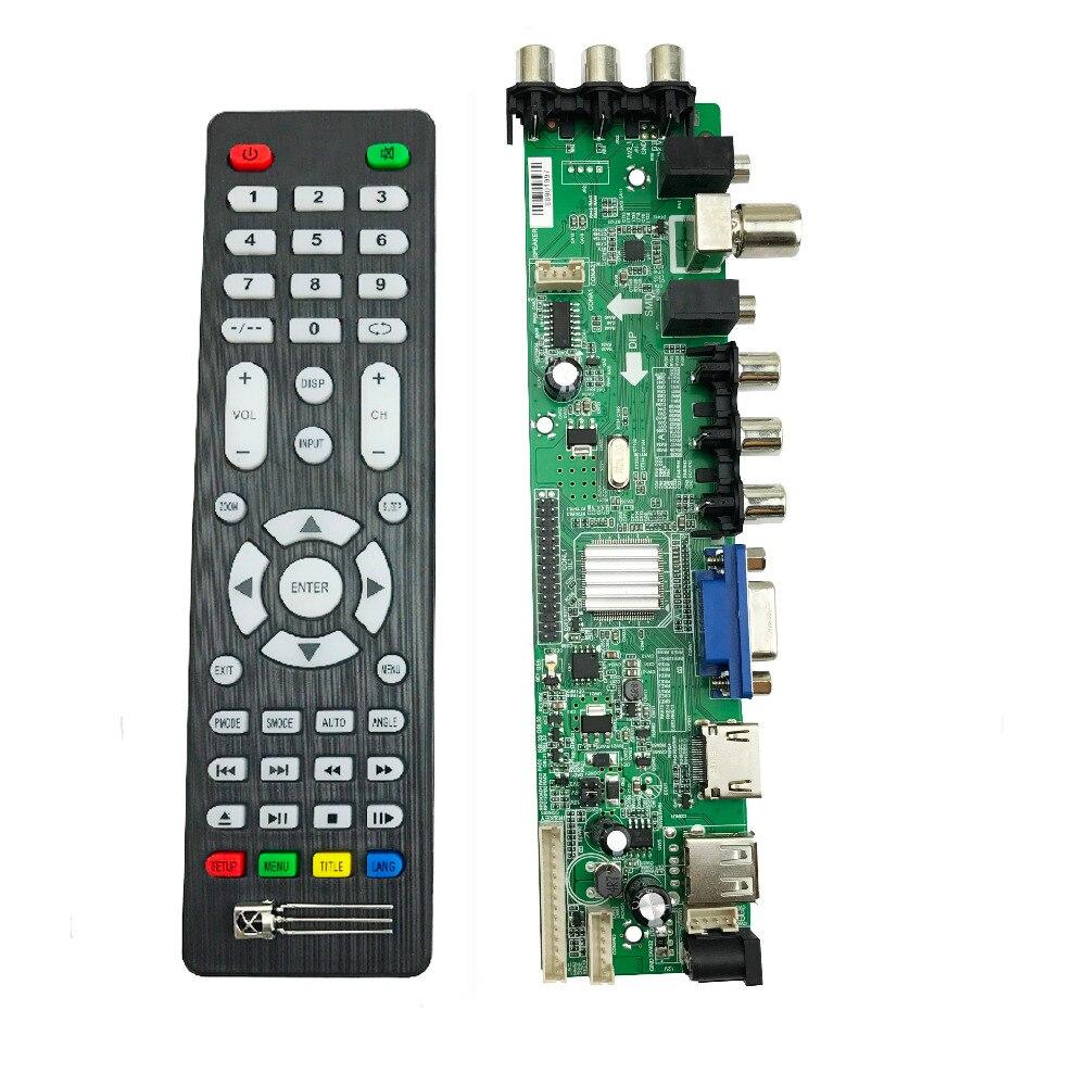 DS. D3663LUA. A81 DVB-T2 DVB-T DVB-C numérique TV LCD/LED bord du pilote 15-32 pouce Universel LCD TV Contrôleur Carte de Conducteur 366300