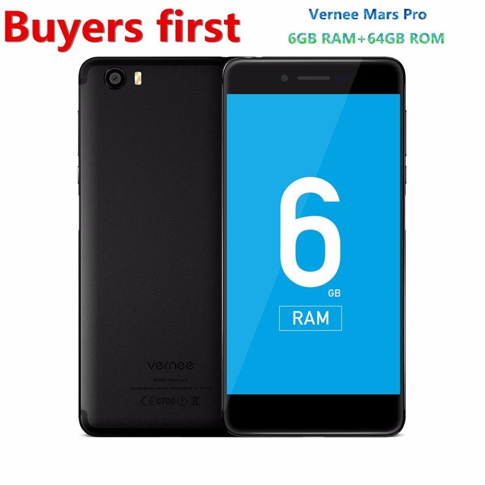 "Original Vernee Mars Pro MTK6757T Octa-core Android 7.0 Mobile Phone 1920*1080 5.5"" Fingerprint 6G RAM 64G ROM 13.0MP Smartphone"