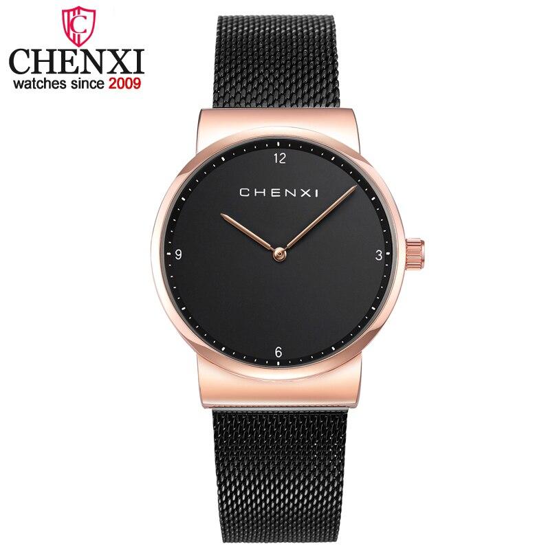 CHENXI Femmes qualité supérieure Mode Minimalisme décontracté montres femmes montre à quartz pour Dame robe de luxe Dames montre pour femme