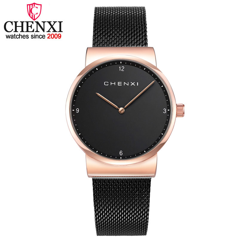 Chenxi mujeres alta calidad moda minimalismo mujeres ocasionales relojes de pulsera de cuarzo para señora lujo vestido señoras montre femme