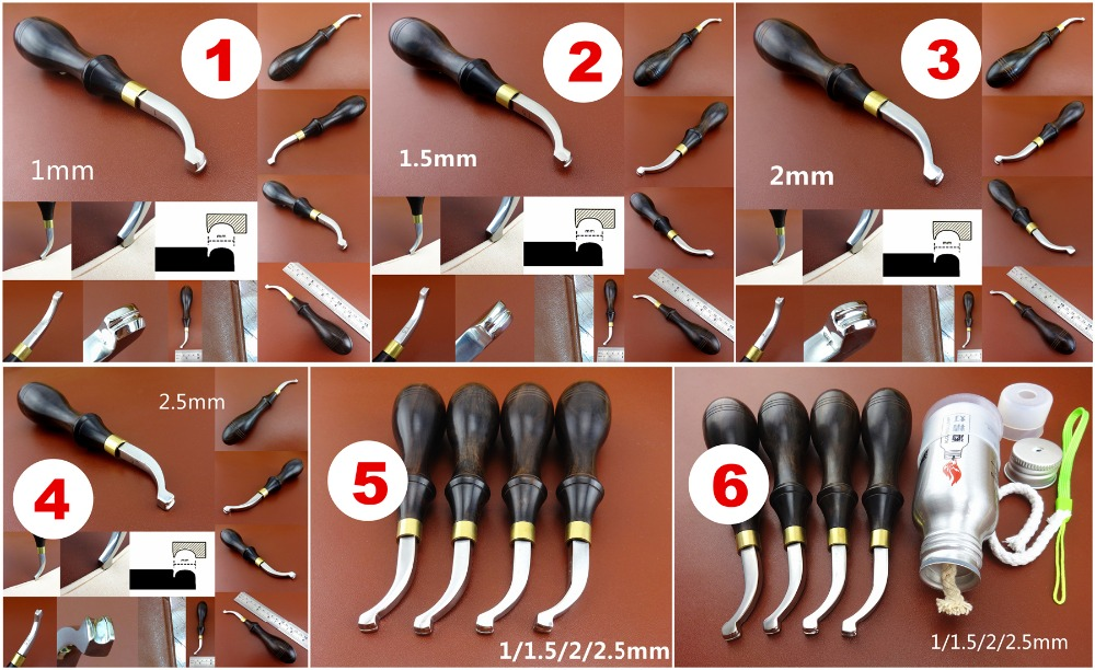 20pcs LEATHER CRAFT WORK COBBLER/'S TOOL SET KIT Pliers Skiving Awl Punch Cutter