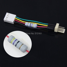 20Pcs Fan Resistor Cable 4-Pin to 4Pin/3Pin PC Power Extension Wire for Cooling Fans