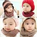 Kid niño niño niña invierno cálido de la redecilla bufanda pañuelo para el cuello bufandas de rayas